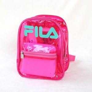 "Fila Neon Pink & Teal ""Zoey"" Backpack"